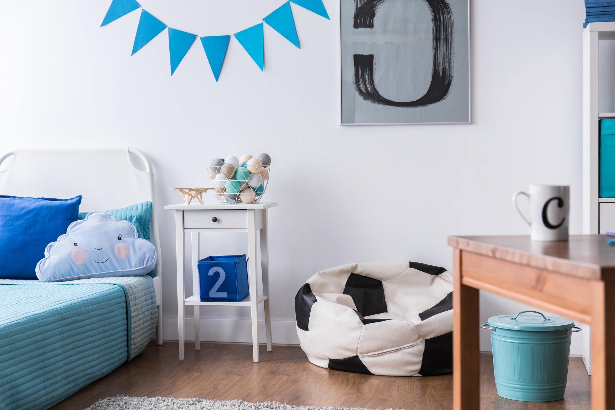 Blått barnerom til gutt